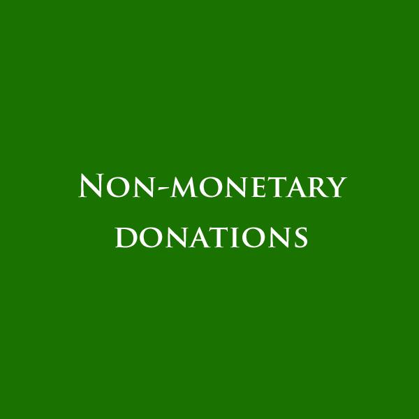 Non-monetary donations